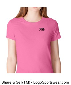 Yaphia Fine Jersey Short Sleeve Ladies American Apparel Tee Design Zoom