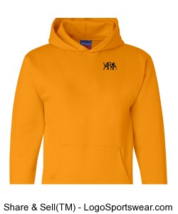 Yaphia Heavyweight Pullover Hooded Sweatshirt Design Zoom