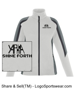 Yaphia Ladies Color-Blocked Fleece Jacket Design Zoom